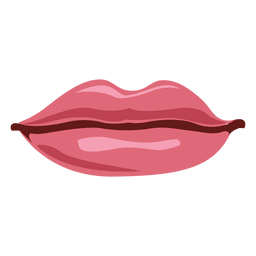 Pink female lips