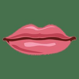 Rosa weibliche Lippen