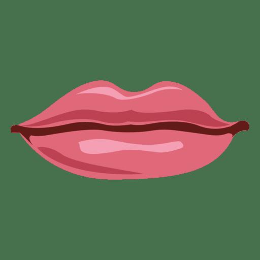 Rosa weibliche Lippen Transparent PNG