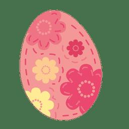 Pink floral easter egg