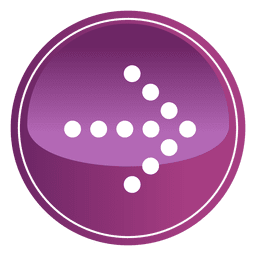 Botão de seta roxa pixelizada
