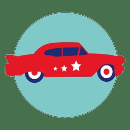 Carro policial, redondo, ícone