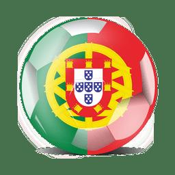 Bandera de futbol portugal