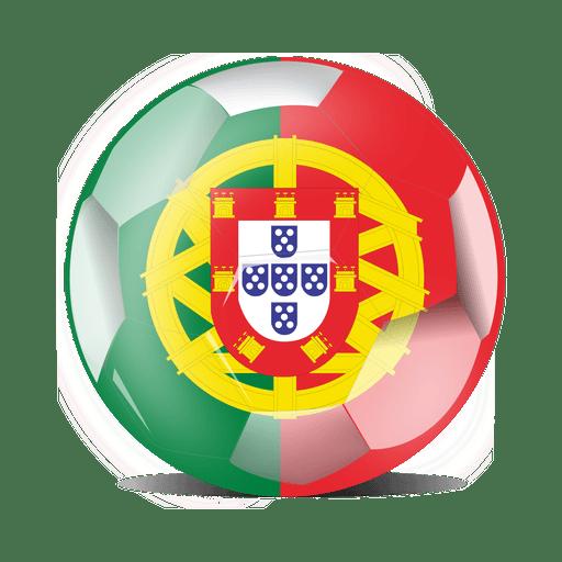 Bandera de fútbol de Portugal Transparent PNG