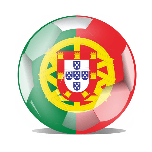 Bandera de futbol portugal Transparent PNG