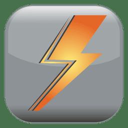 Icono de cuadrado de poder