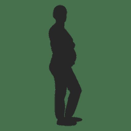 Senhora grávida em pé 4 Transparent PNG