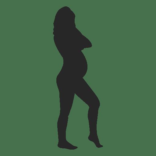 Mujer embarazada de pie 6 Transparent PNG