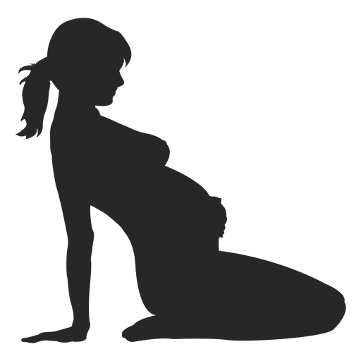 Pregnant woman sitting back Transparent PNG