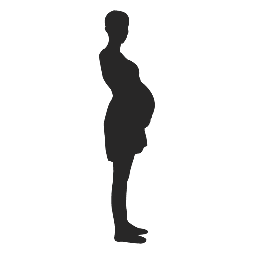 Pregnant woman standing 4 Transparent PNG