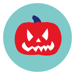 Halloween pumpkin circle icon