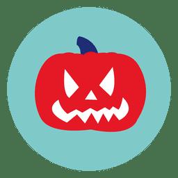 Ícone de círculo de abóbora de Halloween