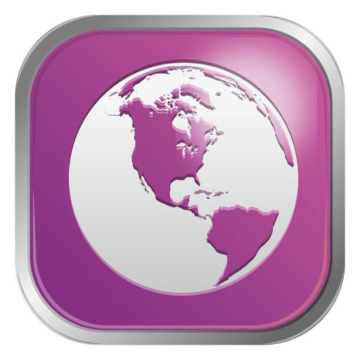 Purple globe icon Transparent PNG