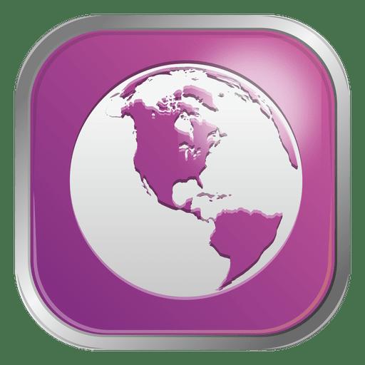 Purple globe icon png