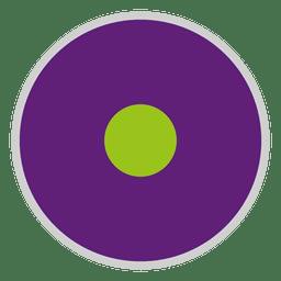Lila grüne Scheibe