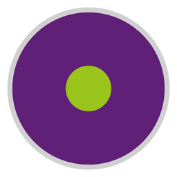 Purple green disc