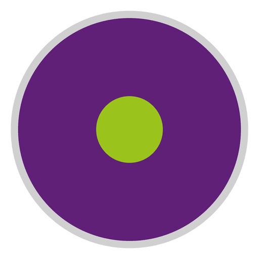 Purple green disc Transparent PNG