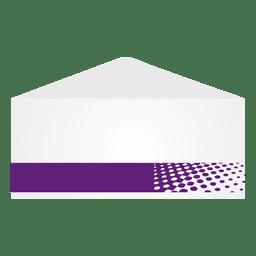 Purple halftones envelop