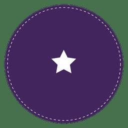 Purple round seal