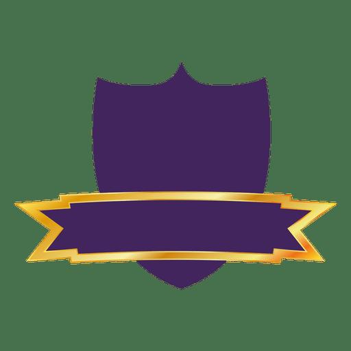 Purple shield label