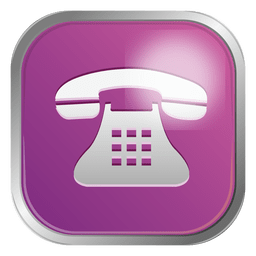 Purple telephone icon