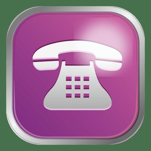 Icono de telefono morado Transparent PNG