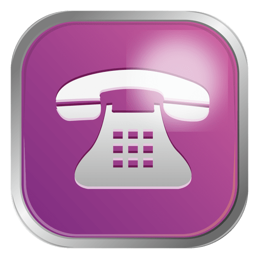 Purple telephone icon Transparent PNG