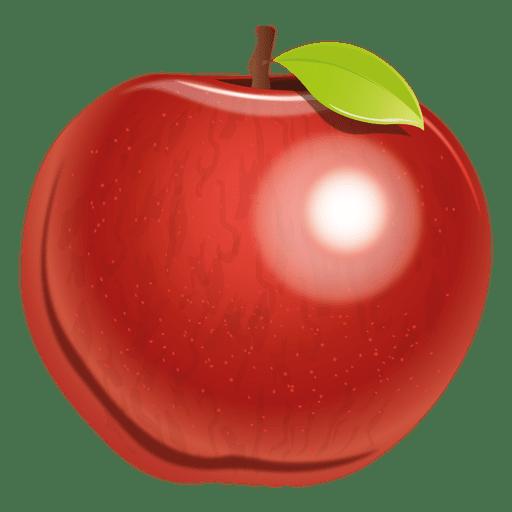 Manzana realista Transparent PNG