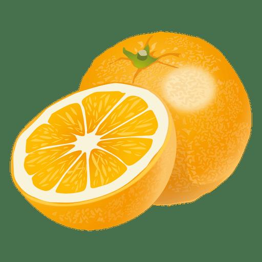 Realistische Orange