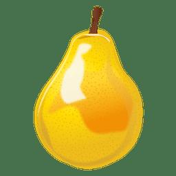 Realistic pear