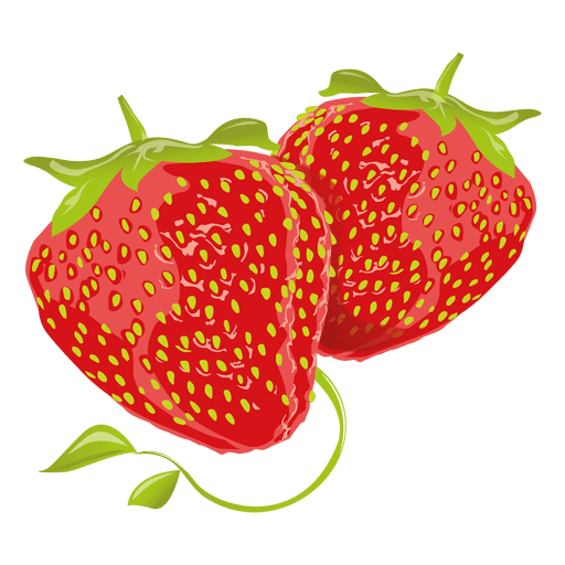 Realistic strawberry Transparent PNG