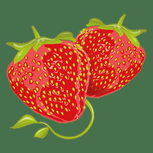 Realistische Erdbeere