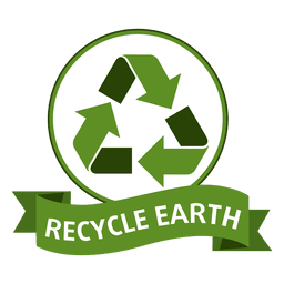 Recycle earth badge