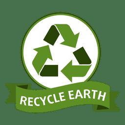 Recycle earth badge
