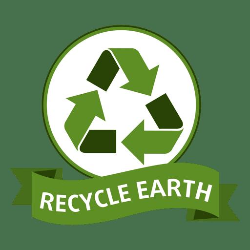 Reciclar emblema de terra Transparent PNG