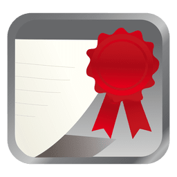 Red badge square icon