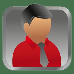 Empresario cuadrado avatar rojo