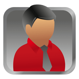 Red businessman square avatar
