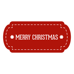 Etiqueta roja de la Navidad