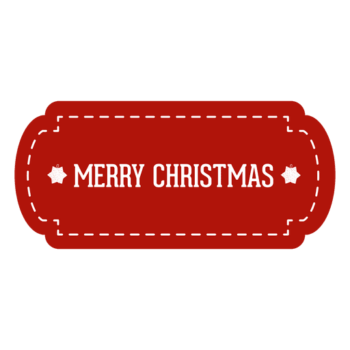 Red Christmas Tag Transparent PNG