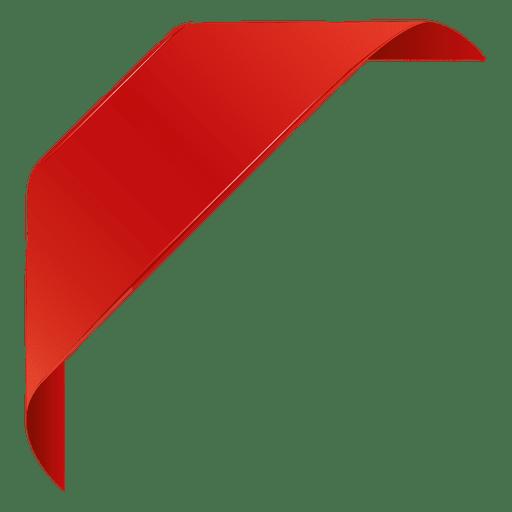 Rótulo de canto vermelho 4 Transparent PNG