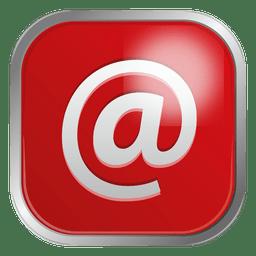Icono de correo electrónico rojo