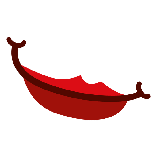 Rote weibliche Lippen Transparent PNG