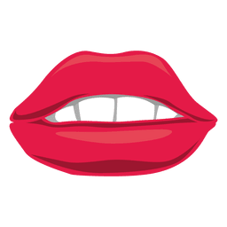Roter weiblicher Mund