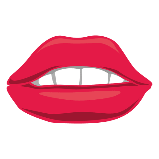 Red female mouth