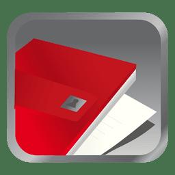 Ícone quadrado arquivo vermelho