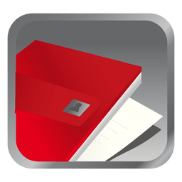 Red file square icon