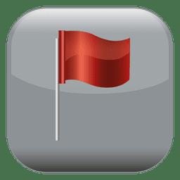 Quadratische Ikone der roten Fahne