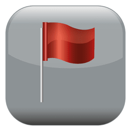 Red flag square icon
