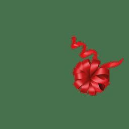 cinta floral roja